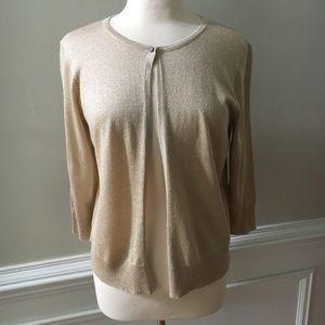 Torrid Gold Open Front Crop Cardigan Sweater